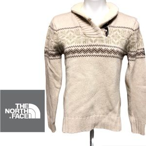 Northface fair isle pull over cream sweater